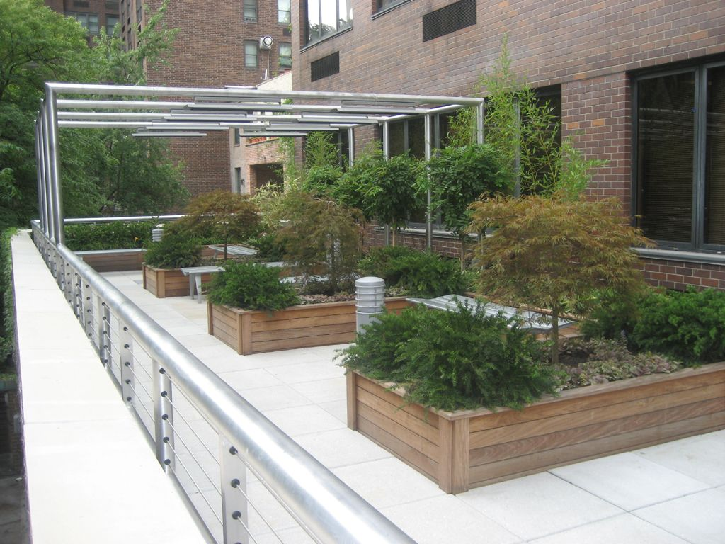 Roof garden designs roof garden design inspirations for Terrace white
