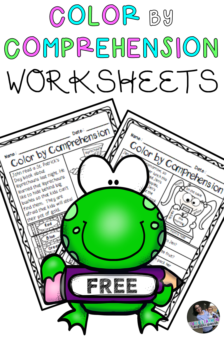 Free Color By Comprehension Worksheets Kindergarten Reading Homeschool Reading Reading Comprehension [ 1152 x 768 Pixel ]