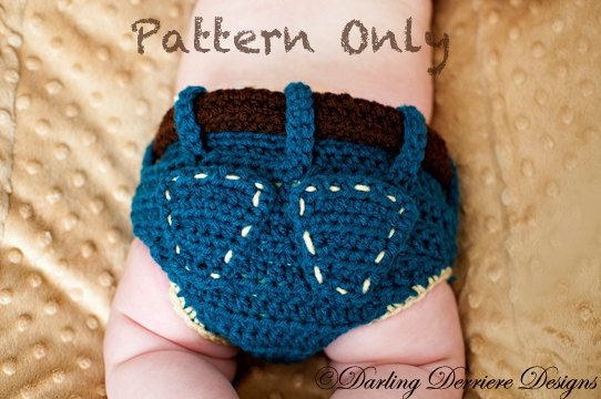 Denim Diaper Cover Crochet Pattern 449 Via Etsy Can I Just Say