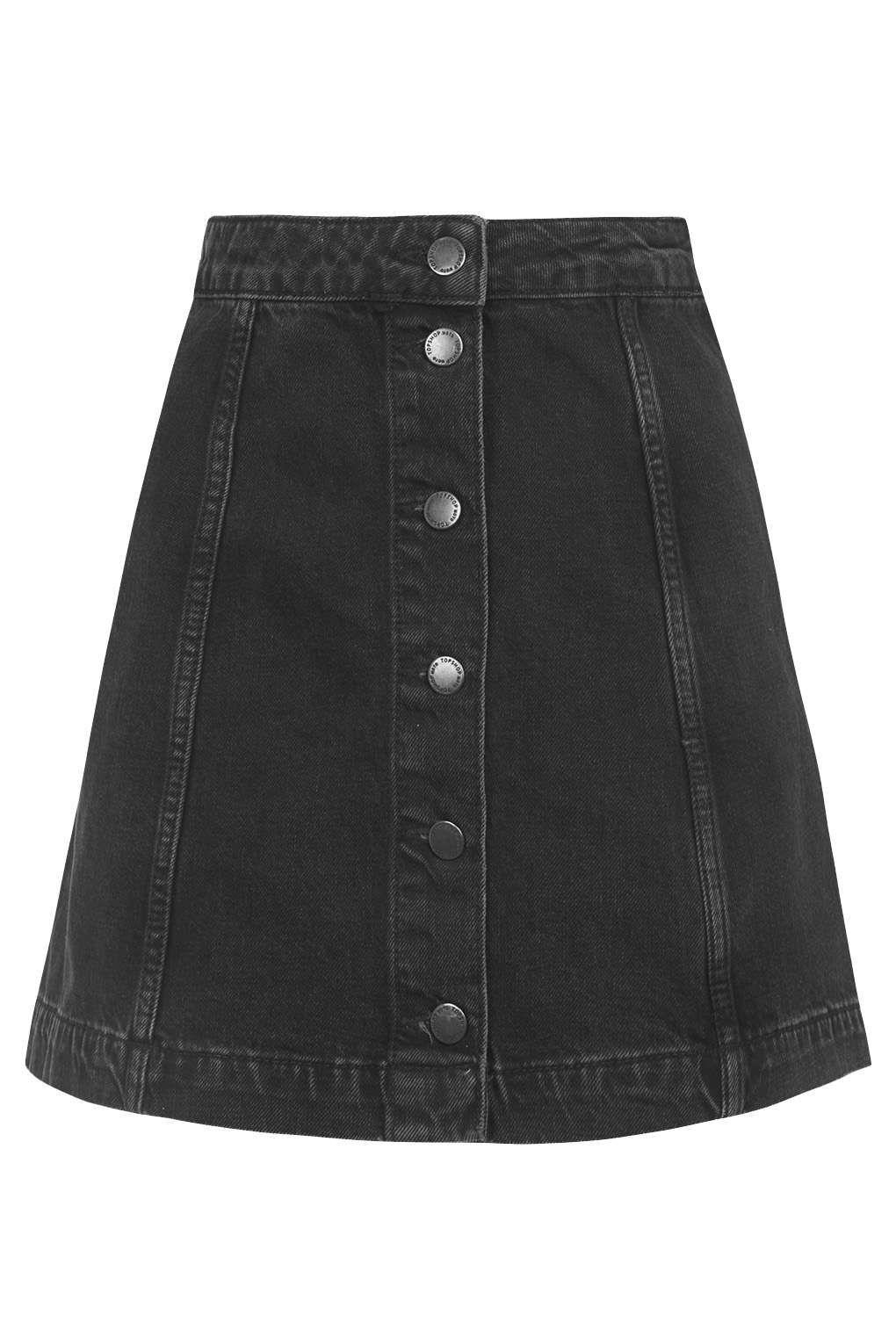 868afaa78a MOTO Denim Button A-Line Skirt - Skirts - Clothing - Topshop | wear ...