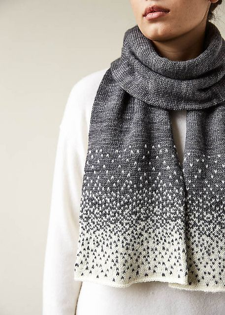 Photo of Free Pattern Alert: Knit a Falling Snow Scarf Designed by Purl Soho