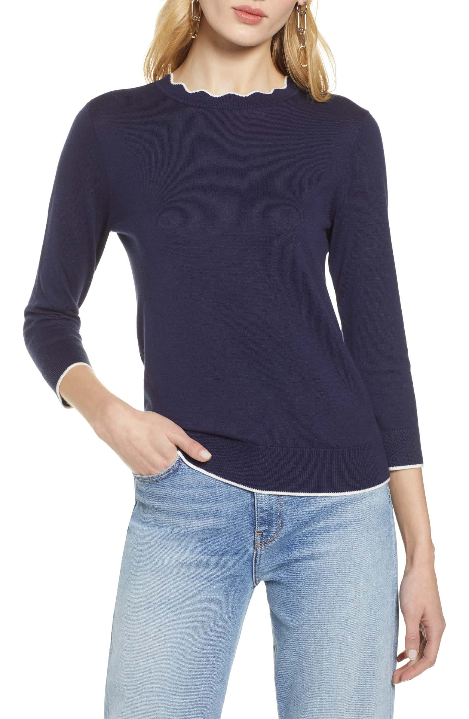 1c6cb85d09b HALOGEN® Scallop Neck Sweater