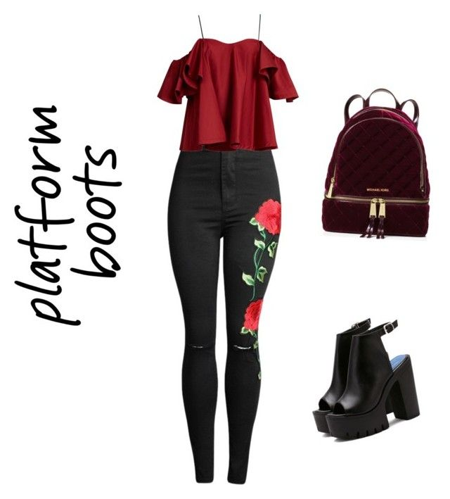 """""""A platform up"""" by miss-bene ❤ liked on Polyvore featuring Anna October and MICHAEL Michael Kors"""