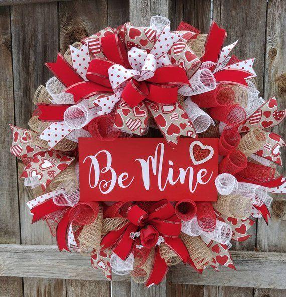 Valentine wreath, rustic Valentine wreath, be mine wreath, be my Valentine wreath, Valentine ... Valentine wreath, rustic Valentine wreath, be mine wreath, be my Valentine wreath, Valentine decor, Valentine door hanger,