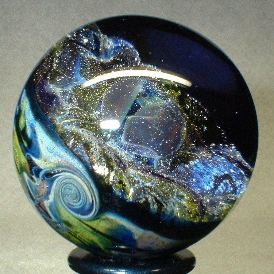 Willis Marbles 1 3 8 Cosmic Dome Handmade Marble Glass Art Pencil Inspiration Cosmic