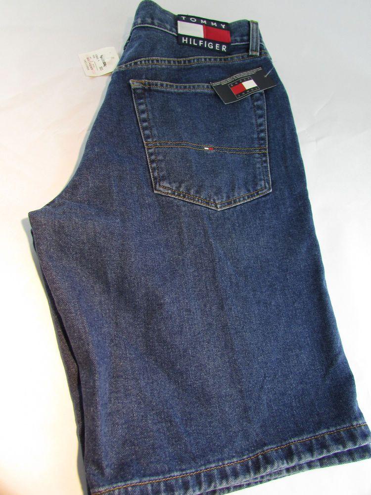 79f65d8cc4cbbb Tommy Hilfiger Freedom Shorts Spell Out Denim Men s 32 Vintage Flag Patch  NWTs  TommyHilfiger  Denim