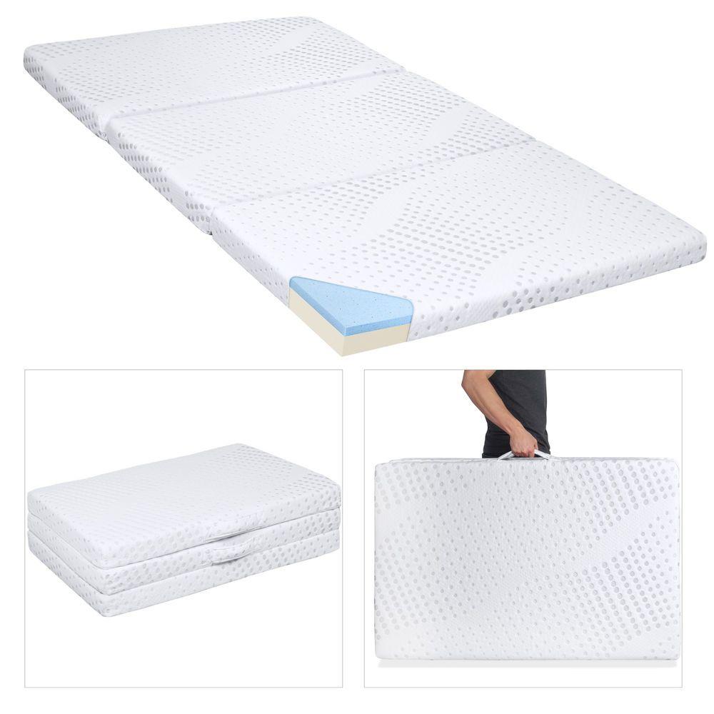 Gel Memory Foam Mattress Queen Size Folding Floor Futon Topper Cover Bedding 3 Memoryfoammattress