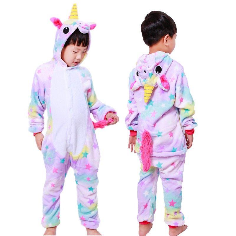 Dream Unicorn Onesie Pajamas Animal Kigurumi Costumes for Kids ... 6c7fad54d