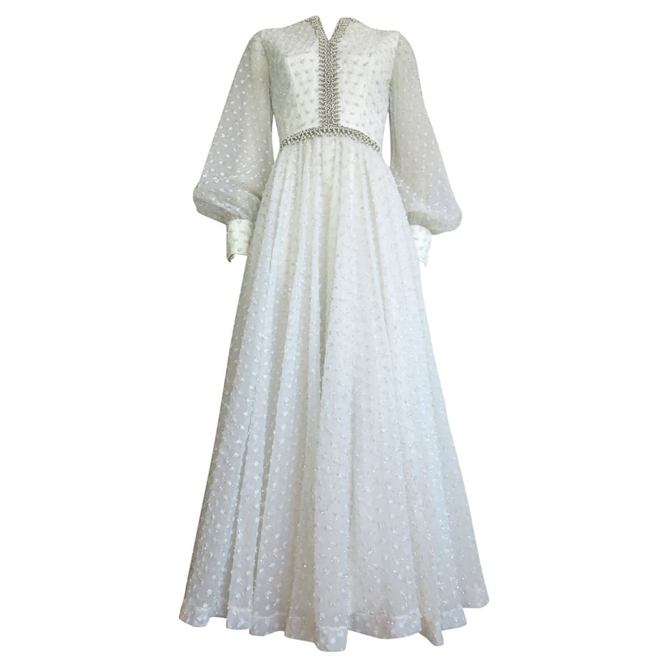 1960\'s ROSE TAFT Couture dress with pearl beading | Pearl beads ...