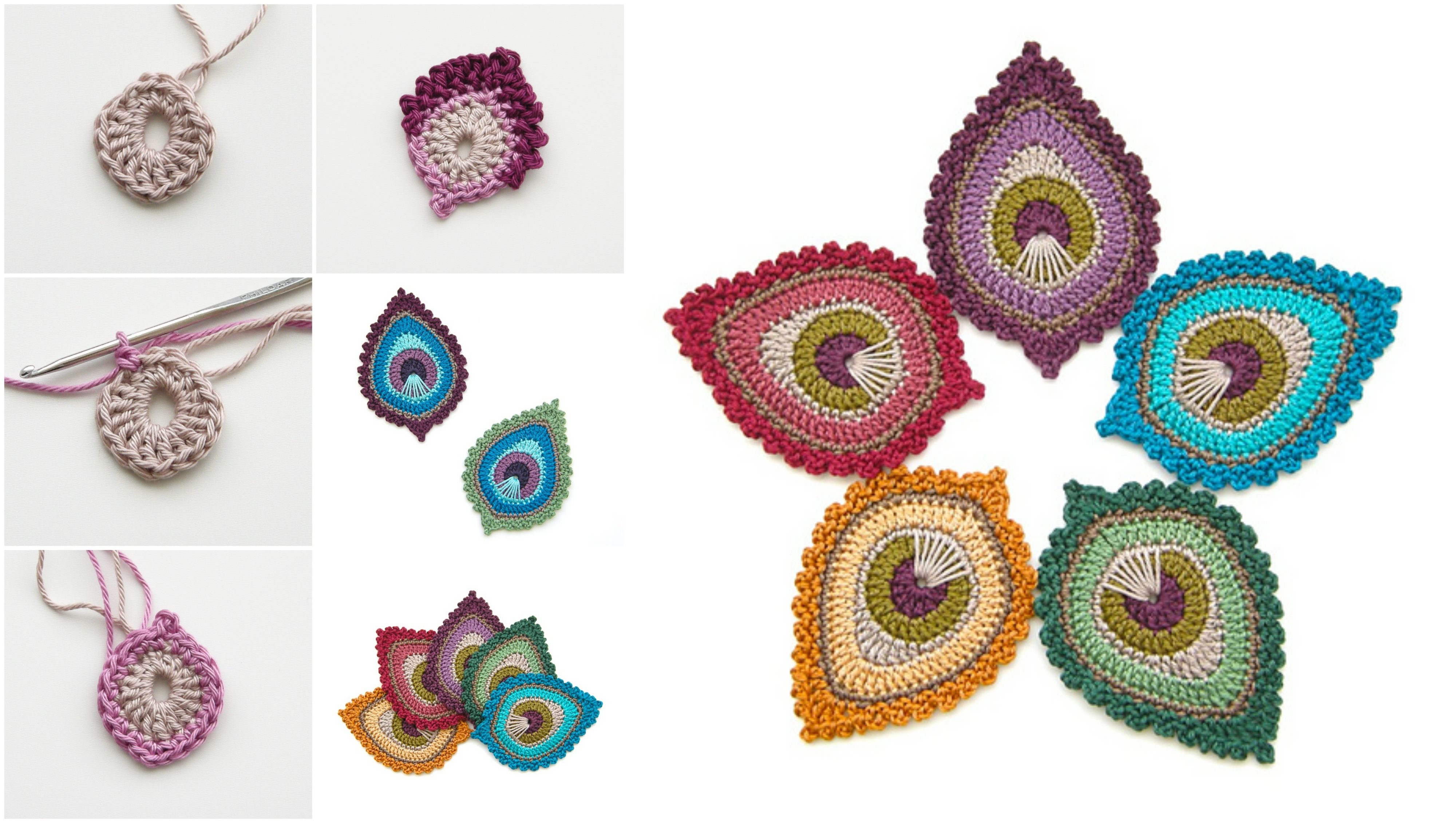 Crochet Peacock Feather – Free Pattern | Grannies | Pinterest | Tejido