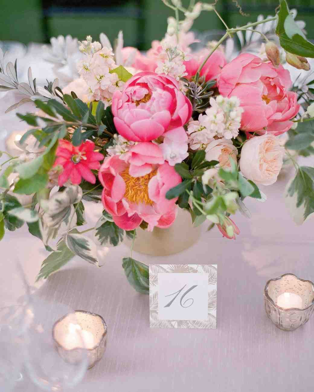 Summer Wedding Centerpiece Ideas: A Casual, Outdoor Wedding In Palm Springs With A Black-Tie