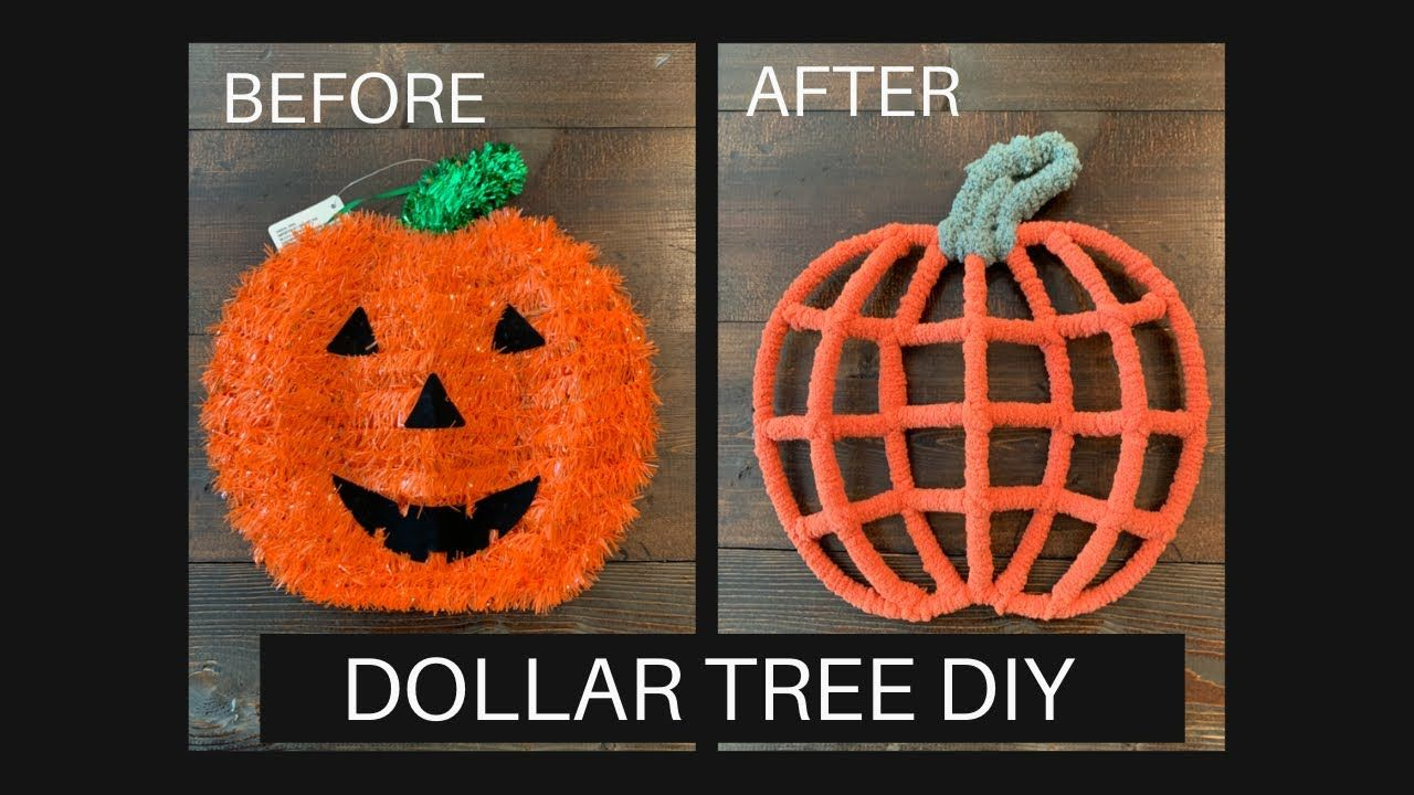 Halloween Decor Diy Dollar Tree Dollar Tree Diy Pumpkin Wreath Dollar Tree Halloween Diy You In 2020 Halloween Diy Crafts Dollar Tree Diy Dollar Tree Halloween