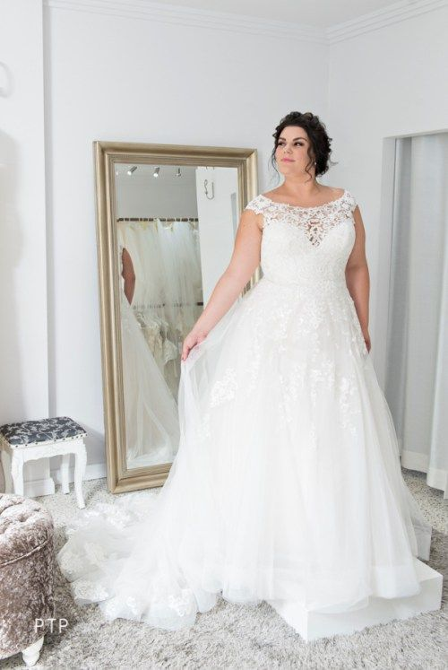 plus size white wedding dress by essence of australia | Wedding ...