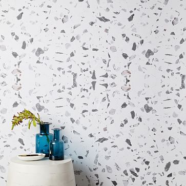 Chasing Paper Speckled Marble Removable Wallpaper White