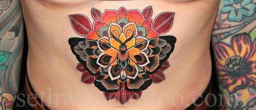 butterflu/moth tattoo