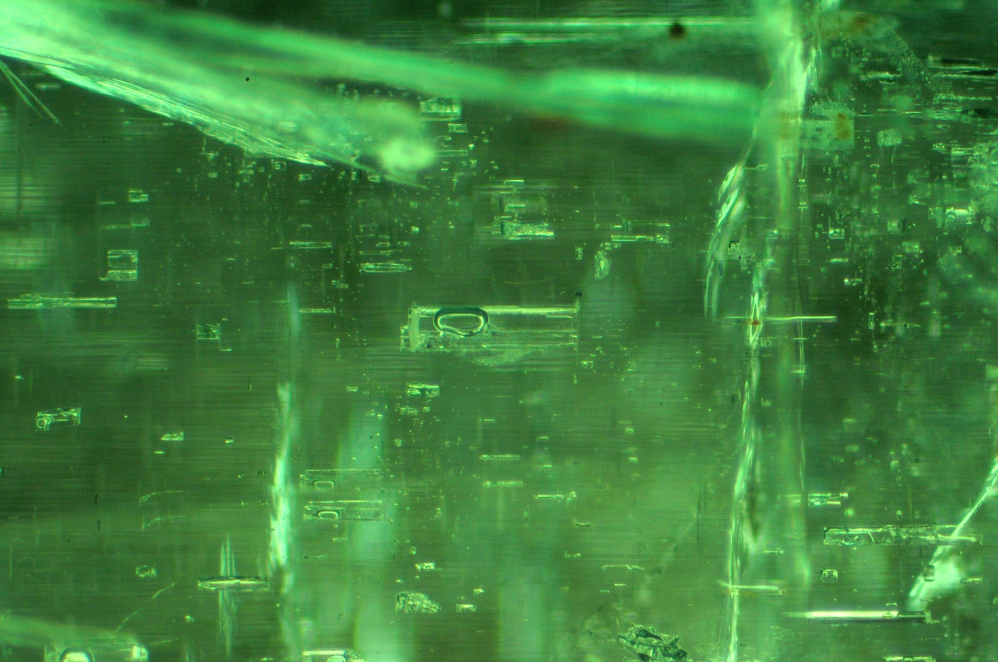 two-phase inclusions in natural emerald from Zambia | Gem