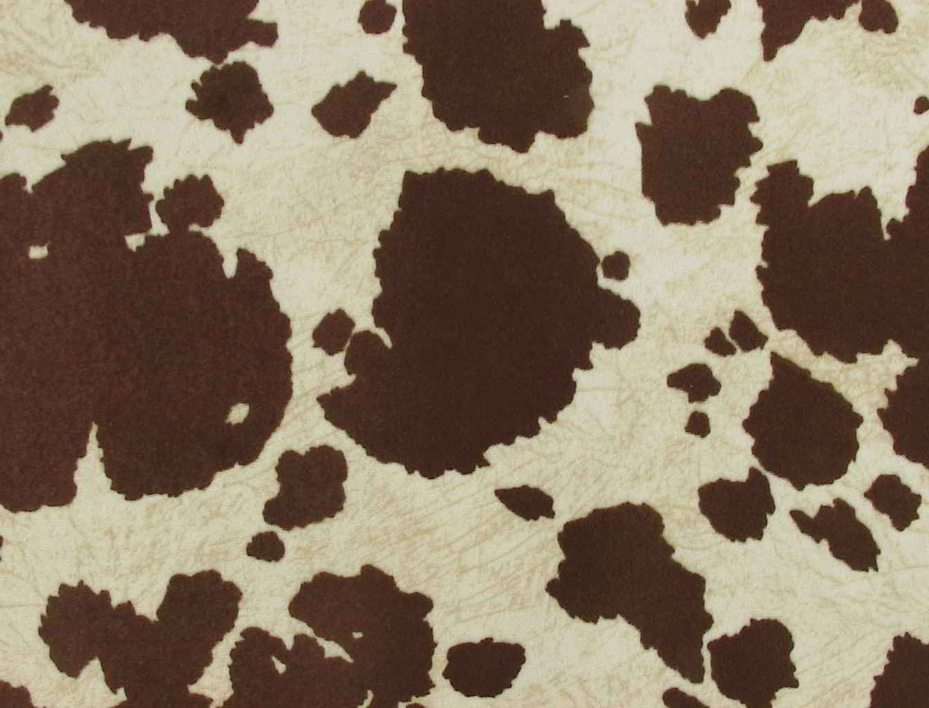 cow print office chair brown