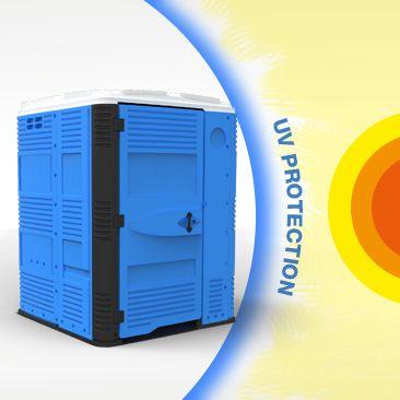 Space 160 | T BLUSTAR #SanitariosPortatiles Resistente a UV. Bano Portatiles Polietileno de Alta Densidad tiene un aditivo resistente a UV para permanecer durante 8 – 10 anos.