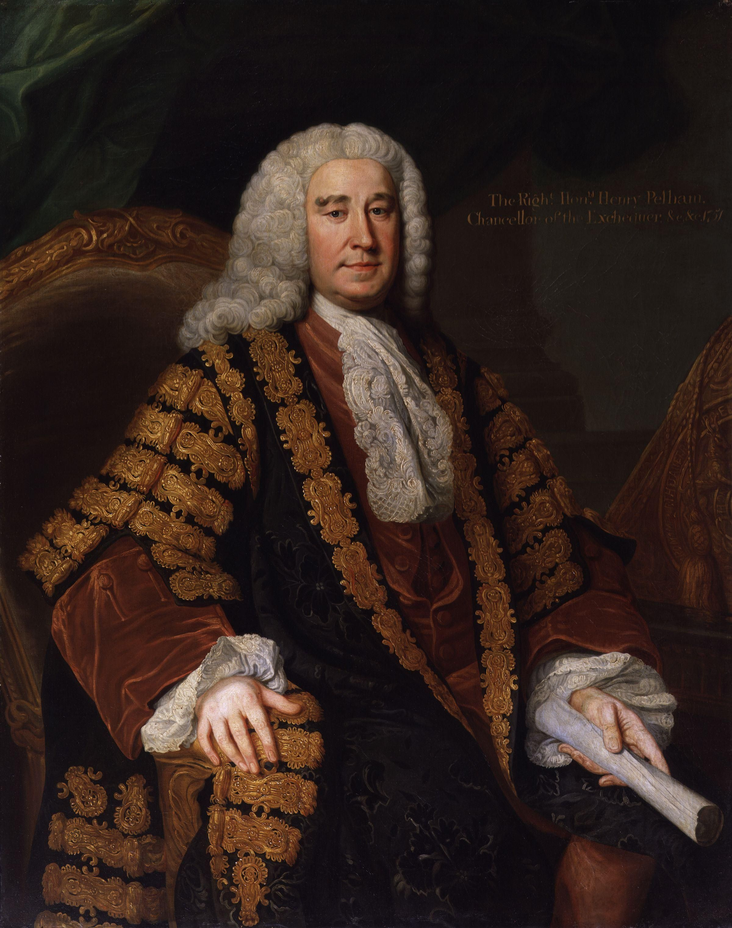 henry pelham 1694 –1754 was a british whig statesman, served as