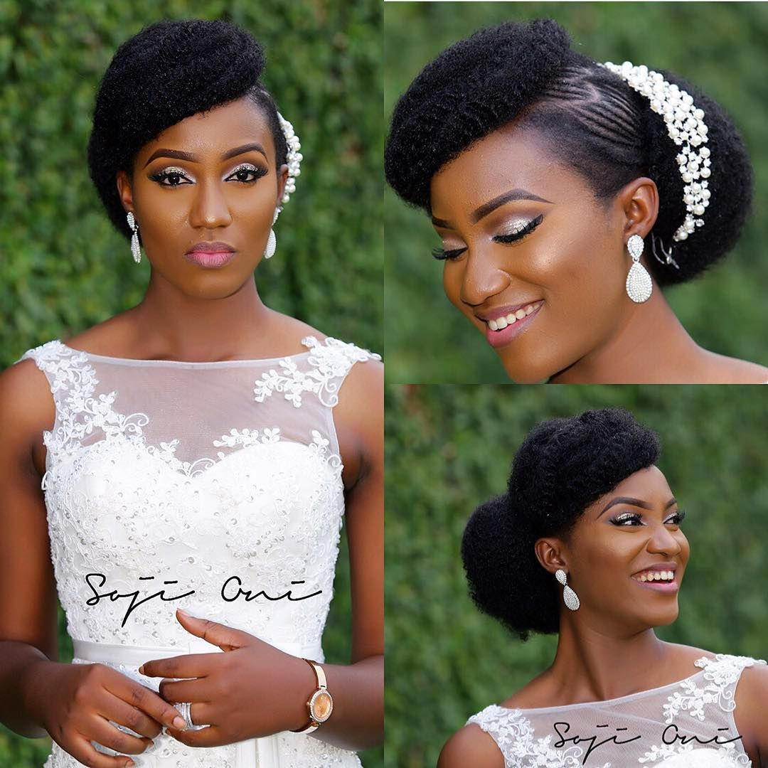 Coiffure Chignon Mariage Cheveux Crepus Coiffure Mariage Cheveux Crepus Afro Chignon Natural Hair Bride Natural Hair Wedding Natural Wedding Hairstyles
