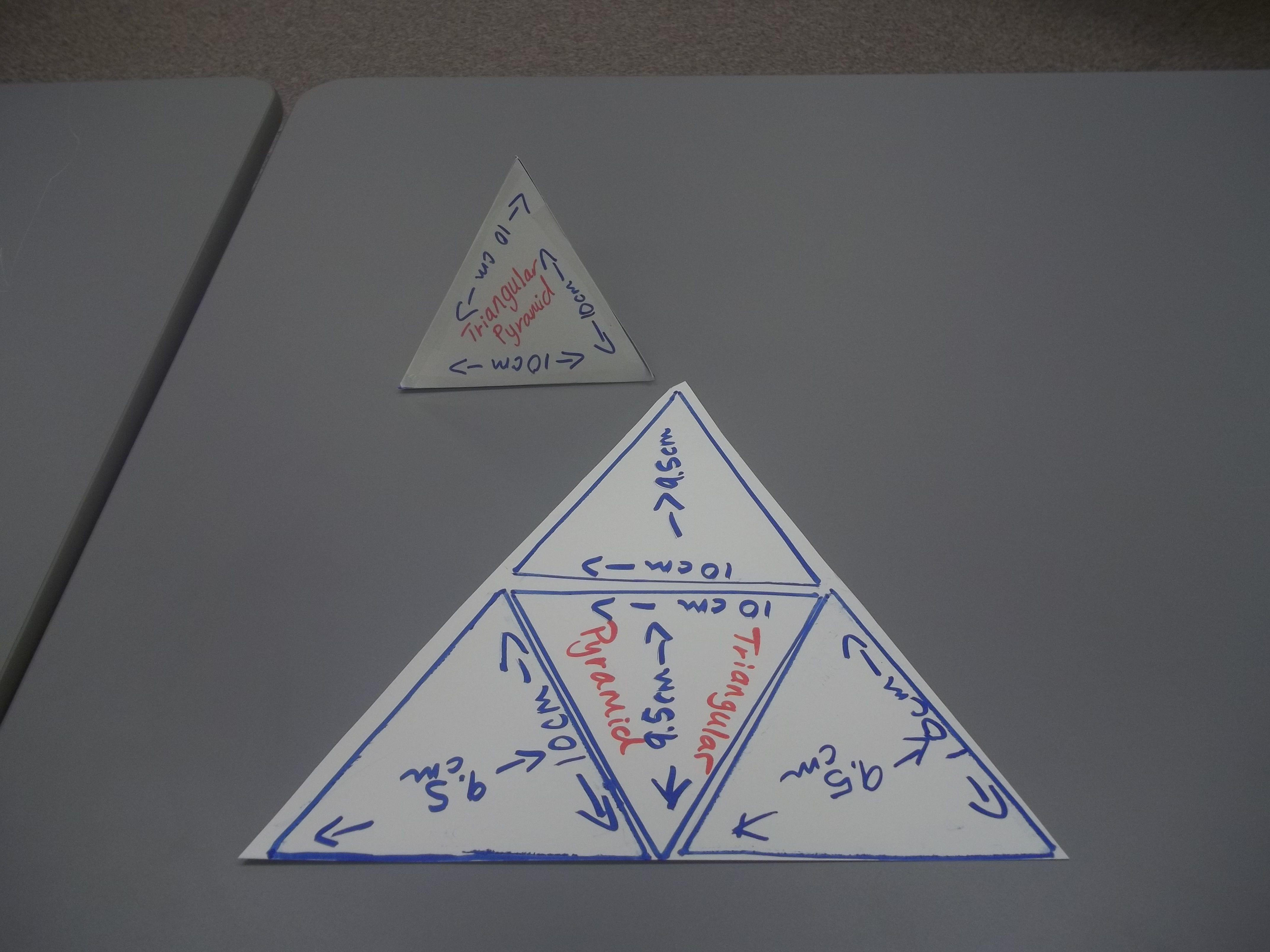 Surface Area Of Triangular Pyramid Using Net