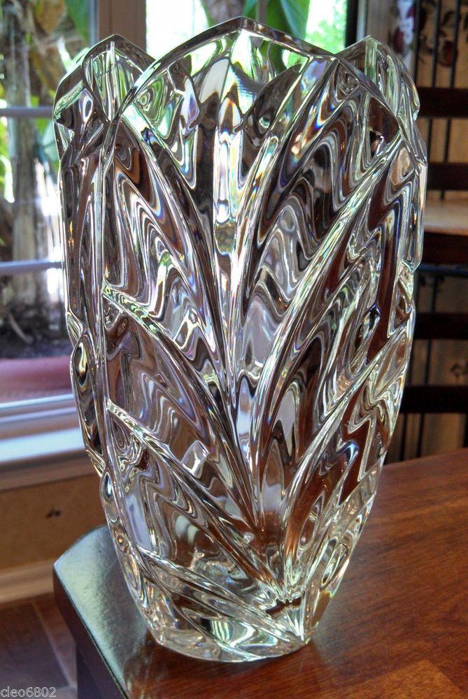Beautiful Marquis Waterford Crystal Vase Palma Design Crystal Vase