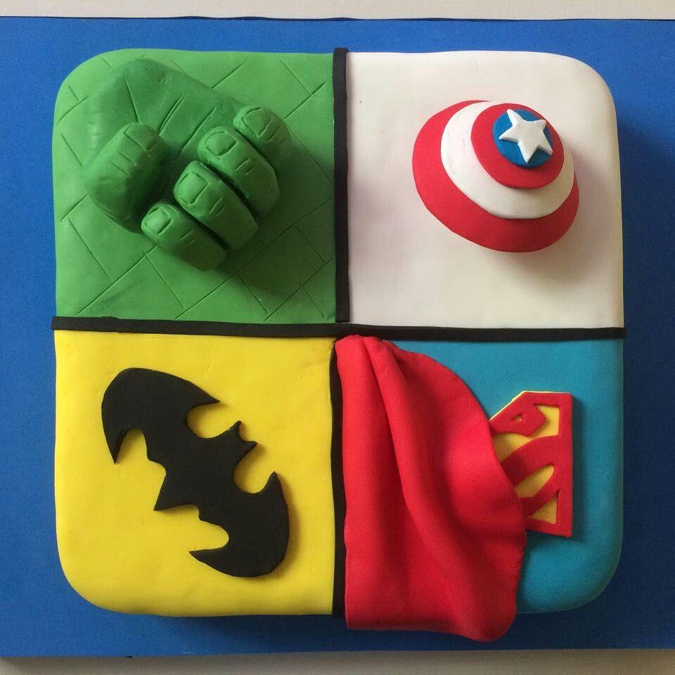 Torta de Super Heroes
