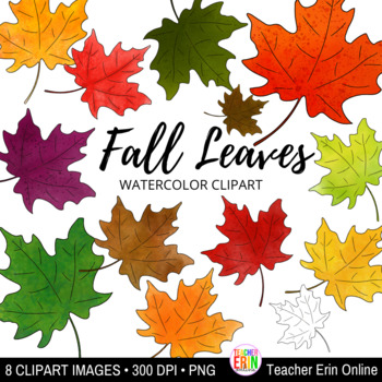 Fall Watercolor Leaves Clipartthis Clipart Set Of 13 Watercolor Autumn Leaves Is Perfect For Your Fall Craf Watercolor Leaves Clip Art Watercolor Autumn Leaves