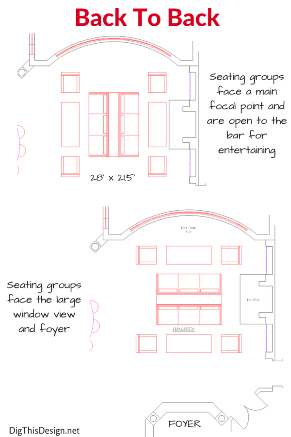 How To Design A Furniture Layout For A Large Living Room. Large Living Room  Floor