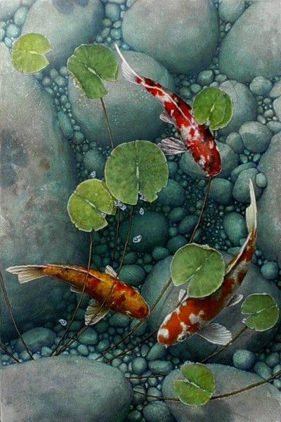 Still by terry gilecki artwork pinterest and for Koi pool thornton