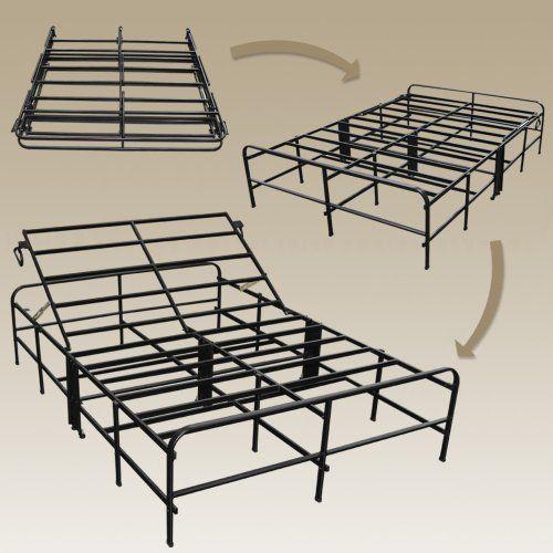 Sleep Master - Adjustable Back Up Platform Metal Bed Frame - Queen ...
