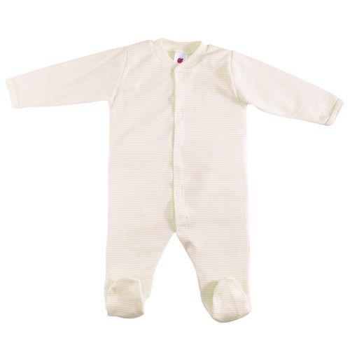 Schlafanzug 1tlg. mit Fuß Gr. 50/56 - Gelb-Weiß
