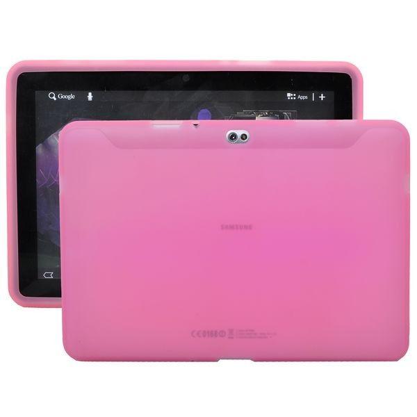 Soft Shell Läpikuultava (Vaaleanpunainen) Samsung Galaxy Tab 10.1 P7500 Silikonisuojus