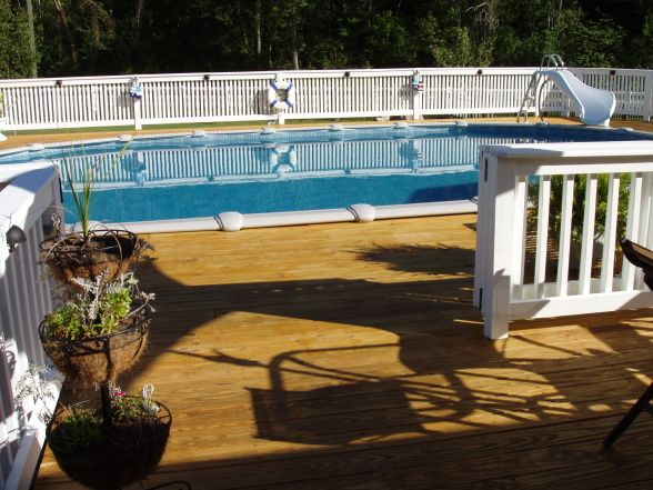 Semi Inground Pool Ideas wooden decks around small above ground pools Find This Pin And More On Decor Ideas Semi Inground Pools With Decks