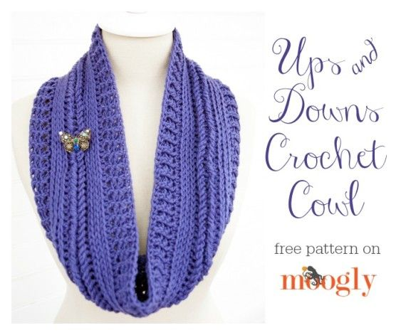 Ups and Downs Cowl - free #crochet pattern on Mooglyblog.com ...