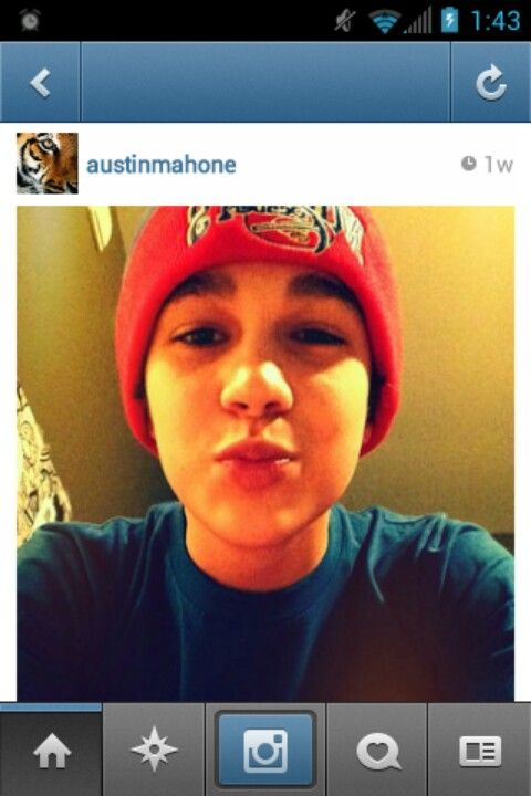 Ohh hey Austin... *kiss kiss* hahaha  Almost to 100 followers on my Austin Mahone board! Cannot even say how awesome it is to connect with all y'all other Mahomies! Love you guys! :) #onemorefollower