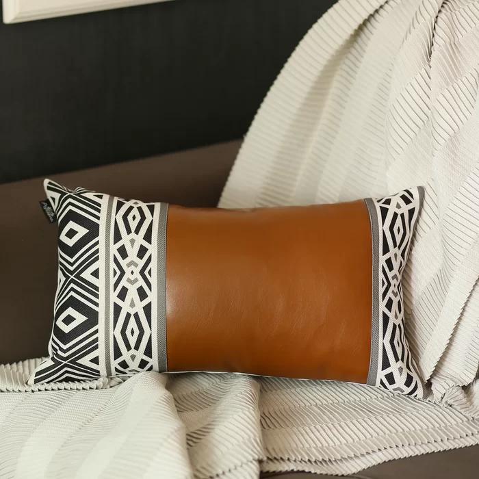 Wayne Decorative Geometric Lumbar Pillow Cover In 2020 Stylish Throw Pillows Decorative Lumbar Pillows Lumbar Pillow Cover