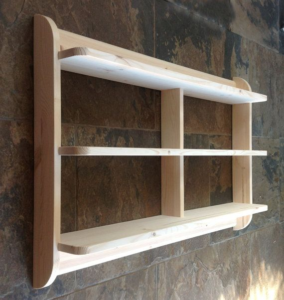 Kitchen Shelves Wall Mounted: Wide Wall Mounted Open Back Shelf Unit. Kitchen Shelves Or