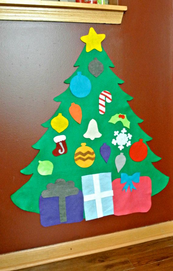 felt christmas tree perfect for toddlers younger children