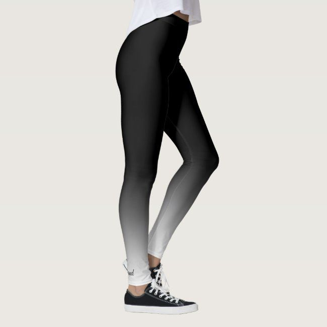 Fade To Black Leggings #blue #white #gradient #spandex #stretch #Leggings - Do you have ones like th...