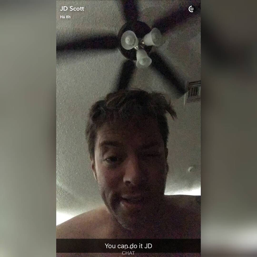 JD Scott trying to get up taking a selfie.  October 2016