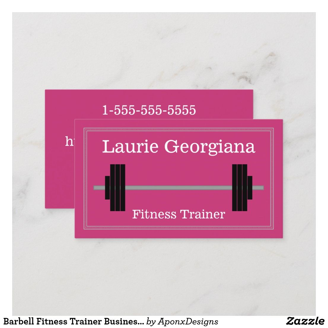 Barbell Fitness Trainer Business Card