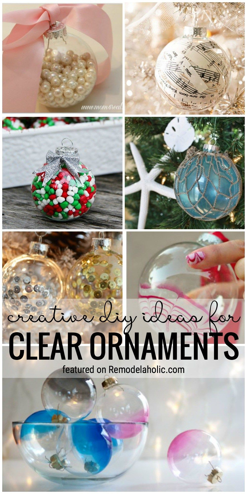Create Your Own Look For Your Tree With One Of These 35 Creative Diy Ideas For Clear Orn Clear Christmas Ornaments Christmas Ornaments To Make Clear Ornaments