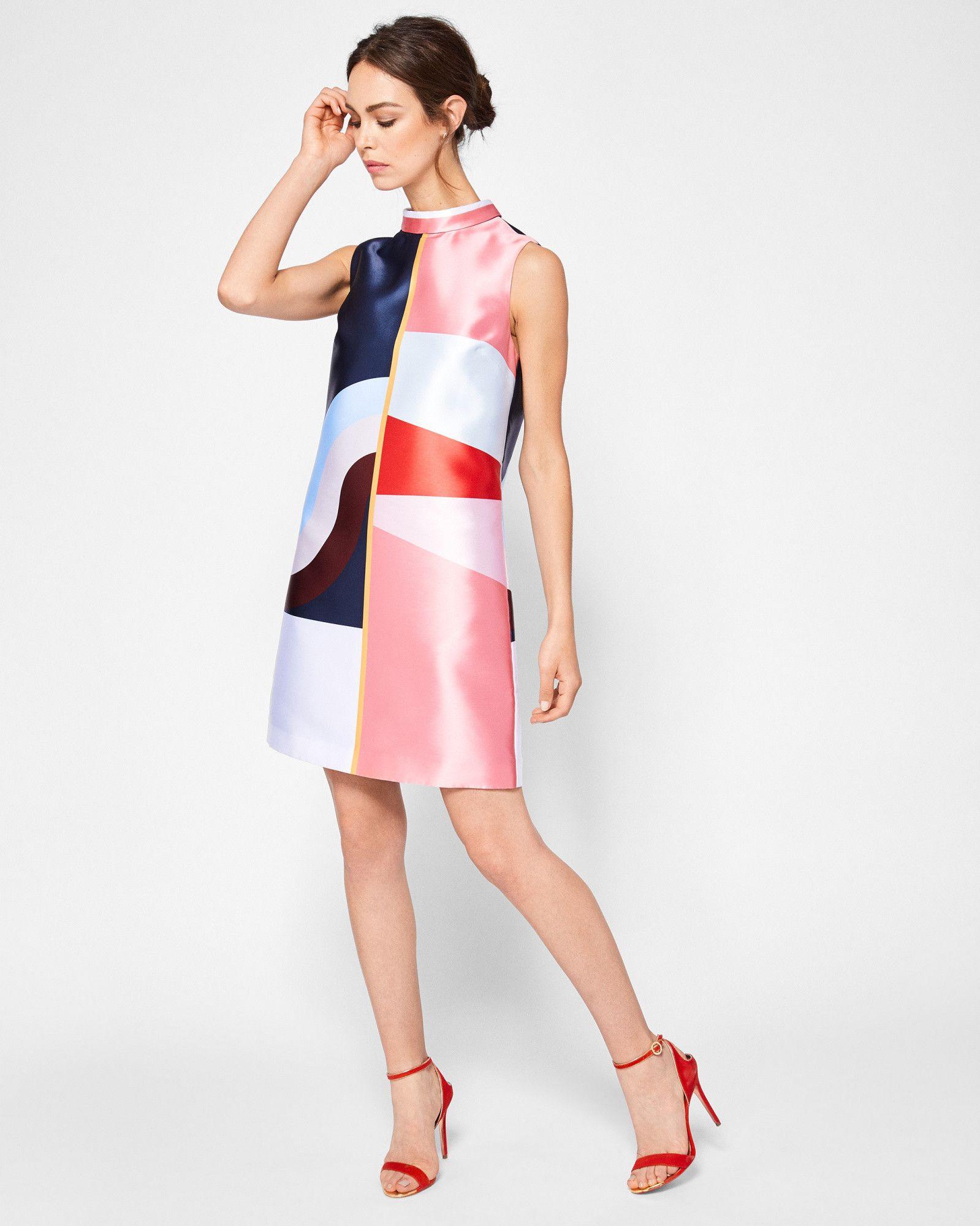 40a4e1421c4b7f Ted Baker Colour-block tunic dress Mid Blue