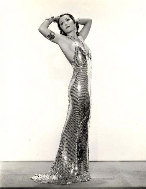 Late 20s, early 30s. Screen siren, Raquel Torres.