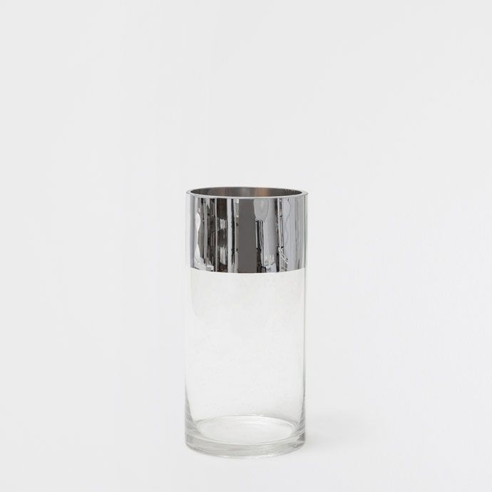 Vase mit Silberrand - Vasen - Dekoration | Zara Home ... Ze Gl Vase on