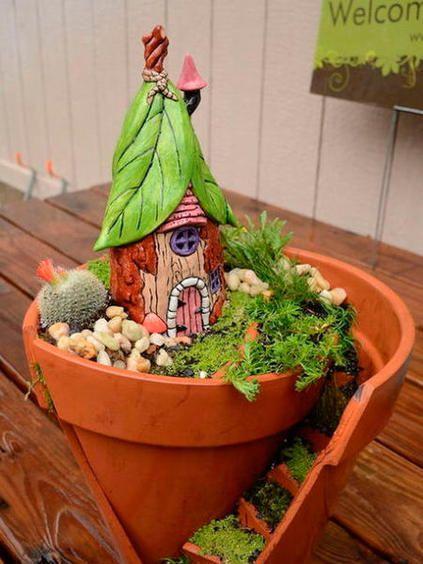 9 encantadoras ideas para el jardín Reutilizar y Macetas - maceteros para jardin