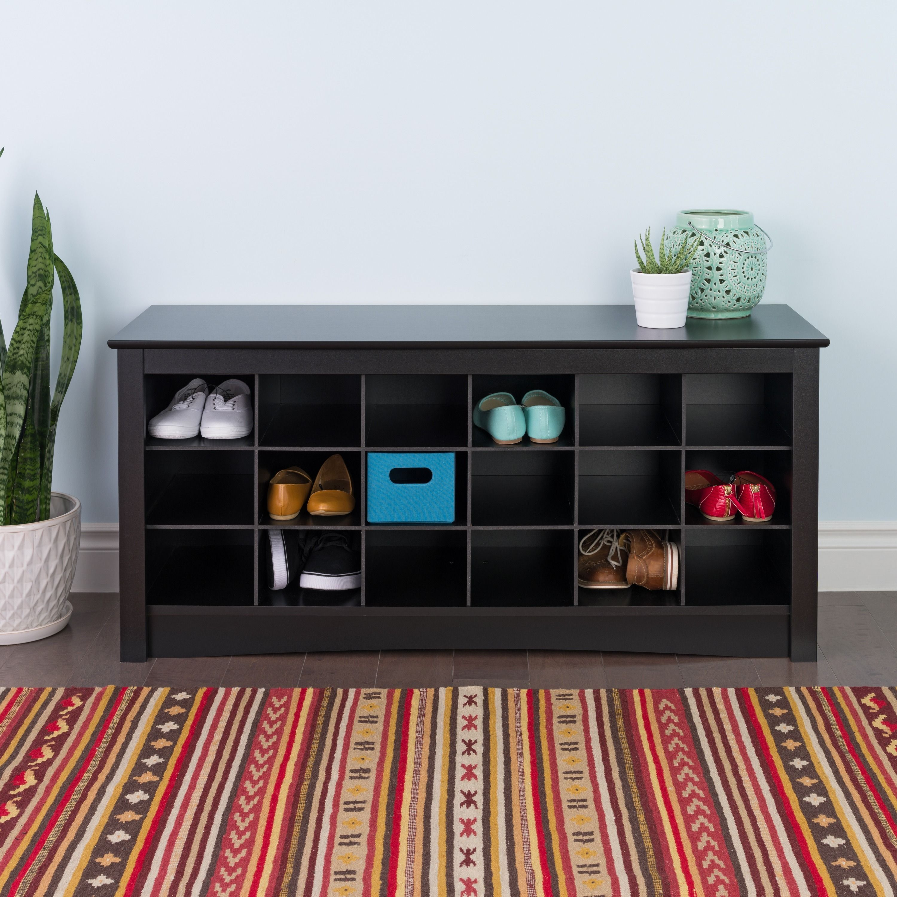Broadway Black Shoe Storage Cubbie Bench Store Your Shoes In The Same Place  You Put Them On With Our Shoe Storage Cubbie Bench. Dual Purposed And  Versatile, ...
