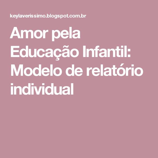 Modelo De Relatório Para Educação Infantil Autismo Education