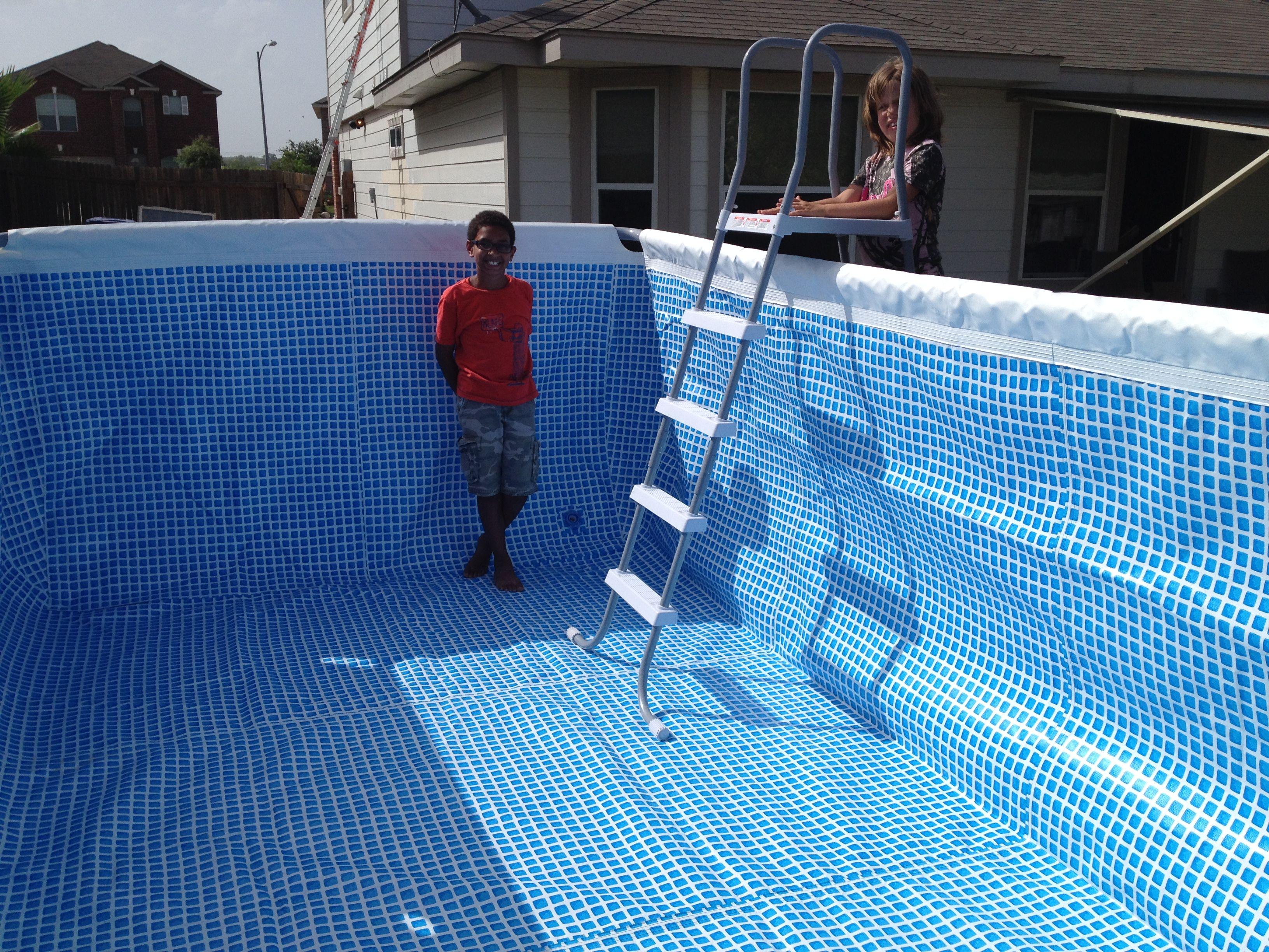 Pool Up Intex Pool Pool Installation Pool